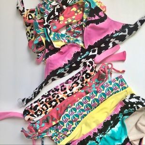 Lot of 4 Youth Girl Bathing Suits Size 10